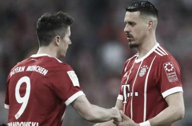 Sandro Wagner ha calado muy bien en el Bayern Múnich I Foto: @FCBayernEs