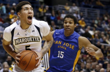 Marquette guard Sandy Cohen III scored a career high 24 points on Tuesday night. (Photo credit Associated Press)