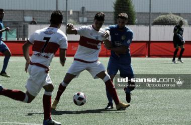 El Sanse, en su último partido. Foto: (ud-sanse.com Deborah Iraurgui.)