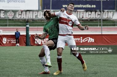 El Sanse, en uno de sus últimos partidos (Foto: ud-sanse.com Deborah Iraurgui)