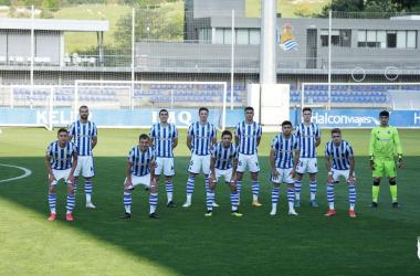 El once titular de la Real Sociedad B frente al CD Calahorra. Vía: Real Sociedad en Twitter.