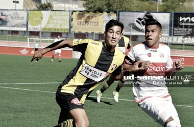 El Sanse, en uno de sus partidos de la pasada temporada (Foto: ud-sanse.com Deborah Iraurgui)