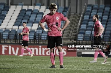 El Sanse, en uno de sus últimos partidos (Foto: ud-sanse Deborah Iraurgui)