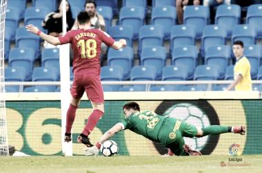 Sansone en el partido contra Las Palmas | Foto: http://www.laliga.es