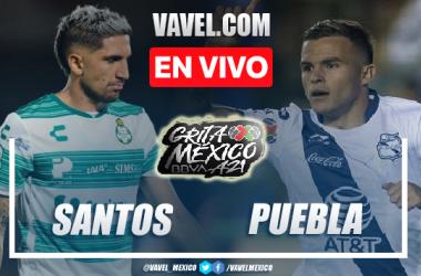 Goles y resumen del Santos 1-1 Puebla en Liga MX 2021