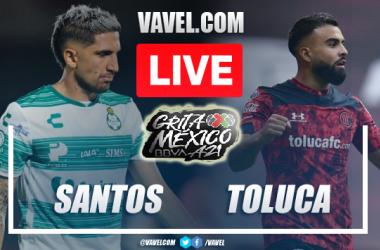 Goals and Highlights: Santos 2-2 Toluca in Liga MX