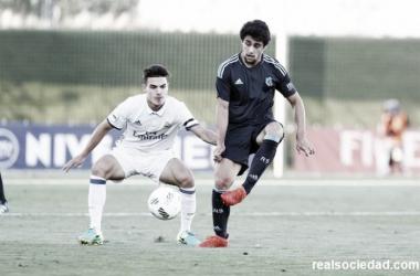 Alejandro Sanz, en el encuentro del pasado fin de semana ante el Castilla | Foto: Real Sociedad
