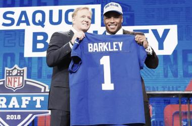 Los New York Giants seleccionaron a Saquon Barkley | Fuente: NFL.com