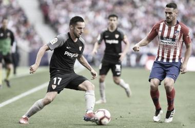 Sarabia encarando a Koke   Foto: Sevilla FC
