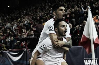 Fotos e imágenes del Sevilla 2-1 Leicester City, octavos de final de la Champions