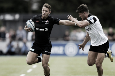 Liam Williams tuvo una tarde difícil de olvidar ante Bristol. Foto: Gallagher Premiership.