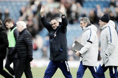 Sarri tras el partido ante el Burnley | Fotografía: Chelsea