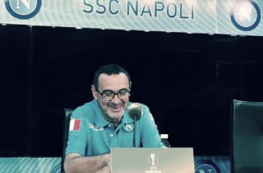 """Europa League, Sarri: """"Gara di grande difficoltà mentale. Voglio prestazione e risultato"""""""