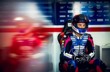 Jason Dupasquier en el box de su equipo / Fuente: motogp.com