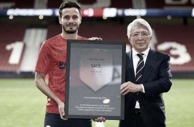 Saúl Ñíguez cumple 300 partidos oficiales con la camiseta del Atlético