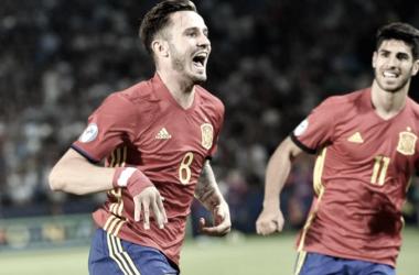 Saúl con la camiseta de la selección / FOTO: Atlético de Madrid