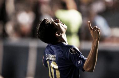 Savarino celebra su primer gol internacional | Foto: EFE