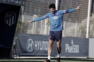 Savic en un entrenamiento / Foto: twitter Atlético
