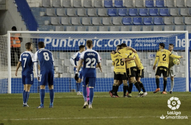 Un gol de Sangalli bastó para que el Real Oviedo se llevara los 3 puntos de la Nova Creu Alta (0-1) | Foto: LaLiga