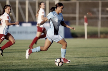 Sam Kerr made the difference, scoring in the 90th minute to end the match with a tie. | Source: Sky Blue FC