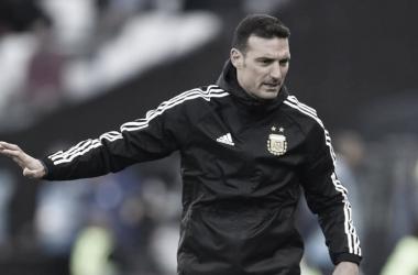 Lionel Scaloni em Argentina x Colômbia (AFA / Divulgação)