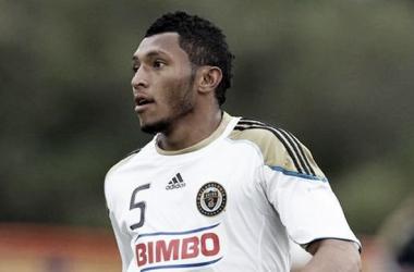 Carlos Valdés, con la camiseta del Philadelphia Union. Imágen: Fichajes.net