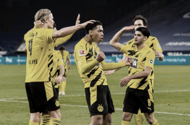 <span>Con un gran trabajo en equipo, el equipo de Dortmund resultó ser el ganador del Derby más importante de Alemania| Foto: @BlackYellow</span>