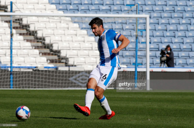 HUDDERSFIELD, ENGLAND - SEPTEMBER 12: Christopher Schindler of Huddersfield Town during the Sky Bet Championship match between Huddersfield Town and Norwich City at John Smith's Stadium on September 12, 2020 in Huddersfield, England. (Photo by John Early/Getty Images)