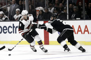 Nick Schmaltz has five points in his first four games as a Coyote. | (Mario Jose Sanchez AP Photo)