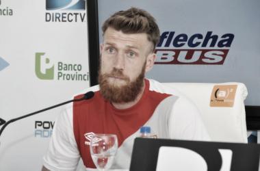 Schunke viene de marcarle un gol a Temperley | Foto: Estudiantes de La Plata Sitio Oficial