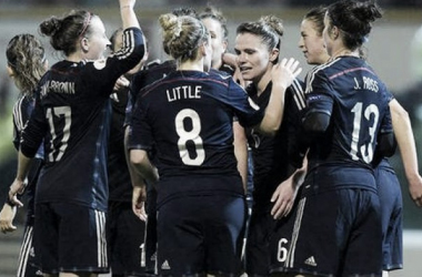 Scotland celebrate scoring against Belarus back in October 2015. (Photo: SFA)