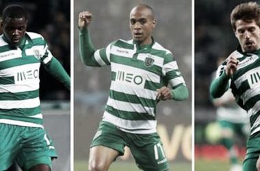 William Carvalho, João Mário e Adrien Silva (Foto: record.pt)