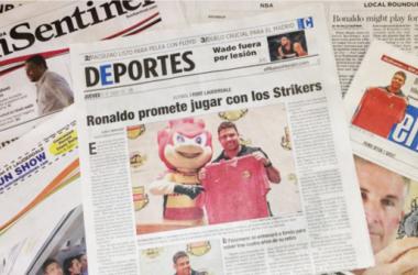 Ronaldo's return will definitely make headlines and help the Stikers brand grow (Photo via Strikers.com)