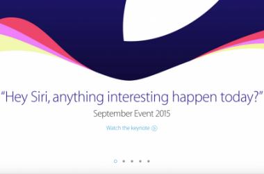 Apple September 2015 Keynote Synopsis