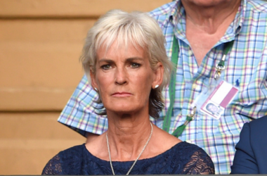 Judy Murray attends day six of the Wimbledon Tennis Championships at Wimbledon on July 4, 2015 in London, England. (Photo by Karwai Tang/WireImage)