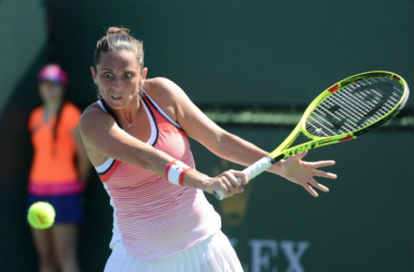 Roberta Vinci en route to the third round in Indian Wells. Sοurce:Christopher Levy/@tennis_shots on twitter