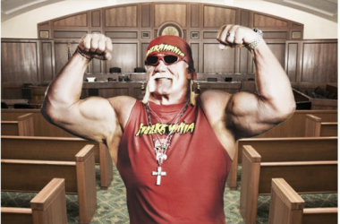 Hulk Hogan in court mock up (image: Joel Lampkin)
