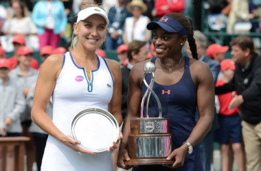 Champion and runner-up in the Volvo Car Open, Sloane Stephens and Elena Vesnina. Source: Christopher Levy