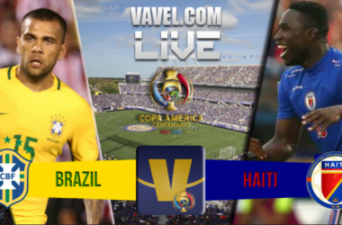 Score Brazil - Haiti in Copa America Centenario (7-1)