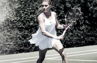 Bouchard with the controversial Premier dress (Nike.com)