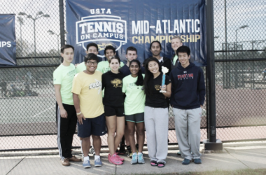 UMBC Club Tennis took home the silver bracket championship at the USTA Mid-Atlantic Sectional Championships (Photo: USTA Mid-Atlantic)