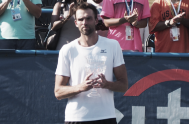 Ivo Karlovic with his runner-up trophy at the Citi Open (Noel Alberto/VAVEL USA)