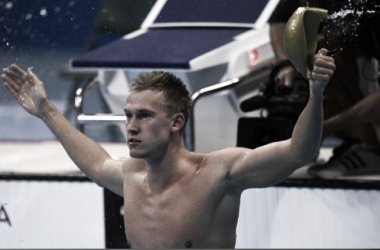 Balandin reacts to his gold medal (CristopheSimon/AFP)