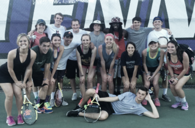 The JMU Club Tennis team poses for a team picture