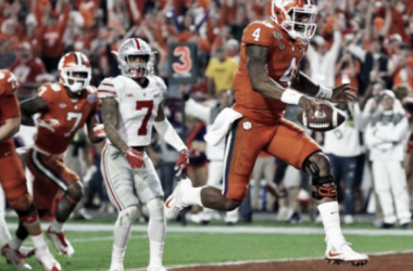 Clemson quarterback Deshaun Watson runs into the end zone during the Tigers' 31-0 rout in the College Football playoff semifinal at the Fiesta Bowl/Photo: Ross D. Franklin/Associated Press