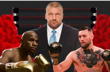 Triple H has sent an invitation to Floyd Mayweather and Conor McGregor to appear on WWE television (image: joel lampkin)
