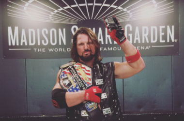 AJ Styles makes history as he captures the United States Championship from Kevin Owens as MSG (image: wwe)