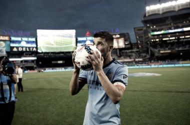 David Villa after scoring his hat-trick on Sunday | Source: NYCFC