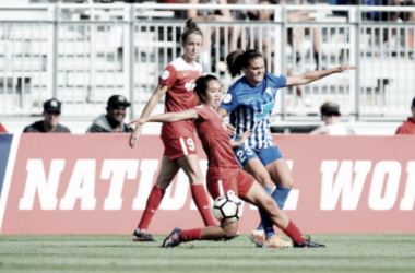 Both teams were evenly matched, and unable to ultimately break the deadlock | Source: Boston Breakers