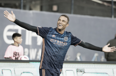 Khiry Shelton was New York City FC's first ever draft pick. | Photo: Vincent Carchietta-USA TODAY Sports